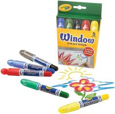 Crayola Washable Window Crayons - for long car rides? Cool!