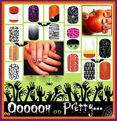 Are your nails ready for Halloween? Check these out! www.katarina.jamberrynails.net #jamberry #halloween #nailart