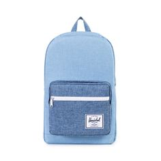 The Pop Quiz is a quintessential school backpack that features a wide range of pockets and organizers. - Style# 10011-00927-OS - Color: Chambray Crosshatch/Limoges Crosshatch - Signature striped fabri