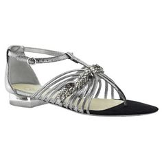 Chanel Chanel silver leather sandals