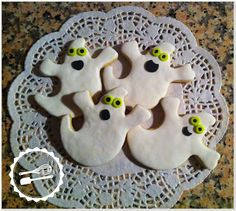 Baunilha Cor-de-Rosa: #cookies #ghosts #halloween