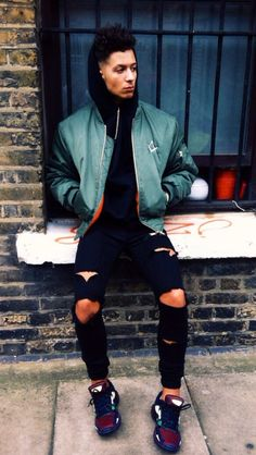 pinterest: @ L Trej honestly I don't care for ripped jeans on a guy but this is cute