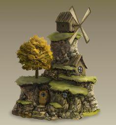 Stone Mill by waltervermeij on DeviantArt