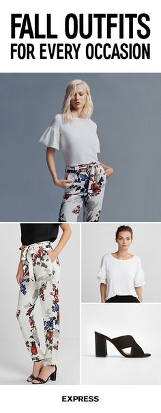 Inspire some office envy with this season's must-steal looks. Own those crisp morning coffee runs, with floral sash waist pants and a statement sleeve detail top. On the weekends, warm up to cozy chic by pairing that oversized sweater with your fave pair of jean leggings. Shop the collection today at Express.com.