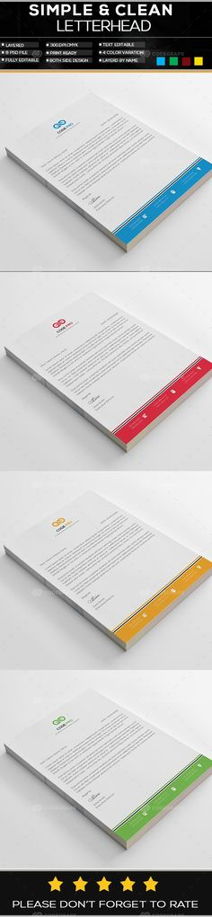 Corporate Letterhead Template on @codegrape More Info   - corporate letterhead template