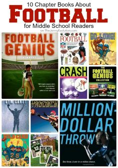 For kids who just can't get enough of football, check out these 10 books about football for middle school readers.