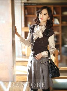 8fc4b375fff44 Classy Korean Style Puff Sleeves Long Sleeves Silk T-Shirt