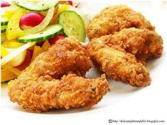 Aripioare de pui crocante - imagine 1 mare Frango Chicken, Romanian Food, Tasty, Yummy Food, Cordon Bleu, Kfc, Fabulous Foods, Tandoori Chicken, Chicken Wings