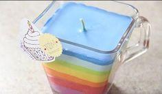 Cómo hacer velas arco iris con ceras de colores. ¡Qué divertido!