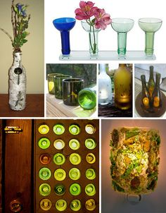 FREE 25 Cool Things to Do with Wine Bottles [Kindle Edition] Empty Wine Bottles, Recycled Wine Bottles, Wine Bottle Art, Bottles And Jars, Wine Bottle Crafts, Glass Bottles, Diy Arts And Crafts, Diy Craft Projects, Fun Crafts