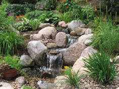 A pondless water feature by The Bruce Company