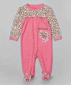 Buster Brown Pink 'Adorable' Footie - Infant   zulily