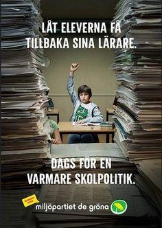 Election Poster / Valaffisch Miljöpartiet (Sweden) 2014