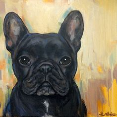 Beautiful dog portrait paintings by Heather Lahaise