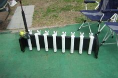do it yourself pvc fishing rod holder   rod holders costing 80 of it it also servers as a way to take the rods ...