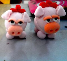 Piggy made with jumping clay - by me