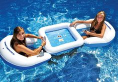 Solstice by International Leisure Products Swimline Game Station Set with Waterproof Playing Cards in Pool Rafts & Inflatable Ride-ons. Pool Floats For Adults, Cool Pool Floats, Swimming Pool Toys, Gaming Station, Water Toys, Backyard Bbq, Table Games, Cool Pools, Card Games