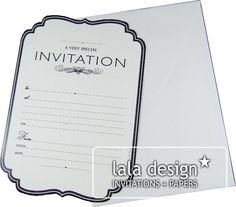 Classic black and white invitation