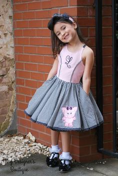 Sandra Dee's Rockabilly Swing Dress Sizes to 14 Kids PDF Pattern Kids Dress Wear, Dresses Kids Girl, Diy Dress, Little Dresses, Kids Clothing Rack, Boutique Clothing, Create Kids Couture, Baby Girl Dress Patterns, Baby Fashionista