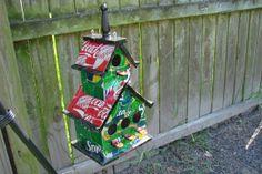 Recycled Soda Can Birdhouse. $70.00, via Etsy.