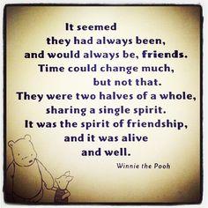 Winnie the Pooh - friendship love