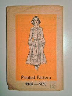 60's Mail Order Dress Pattern 4968 / Misses' by ElkHugsVintage, $7.00
