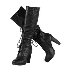 Black faux suede knee high boots, womens boots, ladies boots ❤ liked on Polyvore featuring shoes, boots, heels, sapatos, black knee high heel boots, black knee high boots, black boots, faux suede boots and heel boots
