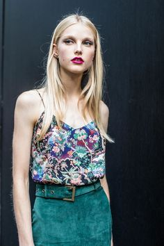 Street Style maquillage,bouche rouge liner, beauty look, make-up