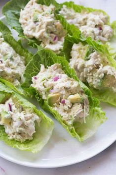 Thai Chicken Lettuce Wraps, Avocado Chicken Salad, Crispy Chicken, Roast Chicken, Lettuce Recipes, Chicken Salad Recipes, Lettuce Salads, Avocado Salad Recipes, Gastronomia