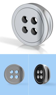 Button designed to grab cables.