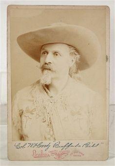 "Rare, ca1892, William F Cody / ""Buffalo Bill"", Albumen, Cabinet Card Photograph by Brisbois of Chicago."