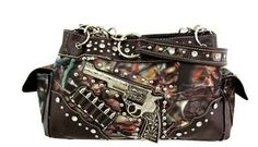 Pistol  Camo purse.  Facebook- Oak Spring Bling