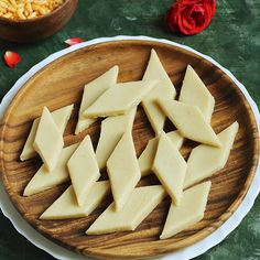 kaju katli is Indian cashew fudge that's thin, delicious & a popular sweet made of cashews & sugar. It is a popular sweet made during festivals. Sweet Dishes Recipes, Spicy Recipes, Sweets Recipes, Food Dishes, Cooking Recipes, Healthy Cookie Recipes, Salad Recipes, Jamun Recipe, Burfi Recipe
