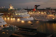 cruise ships..want to go on one or two or three......haha