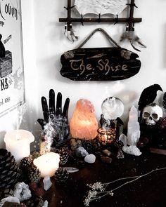 The Shire - my new favourite altar wall accessory! (Thank you Alex ily ) #theshire #lordoftherings #lotr #altar #crystals #witch