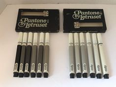 Set 12 PANTONE BY LETRASET Broad Line Markers 2 Packs Cool Warm Grey Gray Broad #Letraset