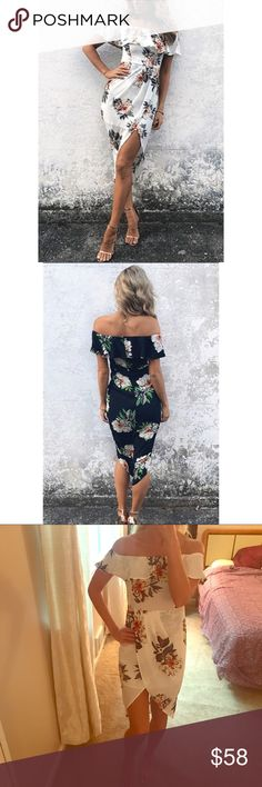 NWT white floral off the shoulder midi dress Fit is true to size.❗️Price firm unless bundled ✈️ ships same or next day 👍 Vogue Vice Dresses Midi