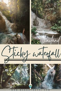 Bua Tong Waterfall, also known as Sticky waterfall Chiang Mai, is a multi-tiered, limestone waterfall flowing through lush jungle just a short trip from Chiang Mai City in Northern Thailand.