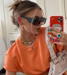 Mode Outfits, Trendy Outfits, Fashion Outfits, Spring Outfits, Womens Fashion, Summer Girls, Mode Hipster, Accesorios Casual, Bead Jewelry