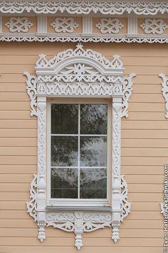 Modern wooden window from Kolomenskoe near Moscow