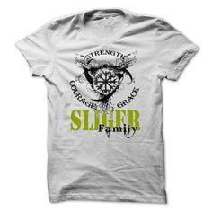 SLIGER Family - Strength Courage Grace-kzeknukefe - #wifey shirt #sweatshirt refashion. CHEAP PRICE => https://www.sunfrog.com/Names/SLIGER-Family--Strength-Courage-Grace-kzeknukefe.html?68278