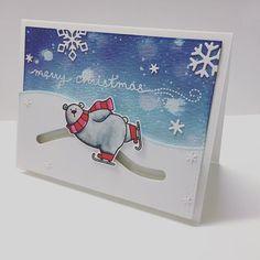 Wheeeeeee~~~ #christmas #slidercard #cardmaking #handmadecard #handmade #papercraft #mftstamps #lawnfawn