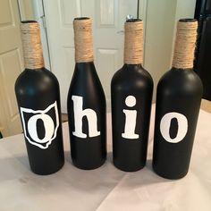 OHIO Wine Bottles by BottlesByMeesh on Etsy
