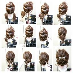 Hair Arrange Arrange … – From Parts Unknown Special Occasion Hairstyles, Fancy Hairstyles, Braided Hairstyles, Wedding Hairstyles, Hair Arrange, Hair Dos, Prom Hair, Bridal Hair, Hair Inspiration