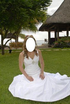 Robe de mariée d'occasion taille 38 avec voile et diadème - Ain