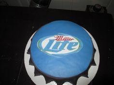 MILLER LITE BOTTLE CAP CAKE