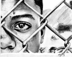 Pencil Drawing, African