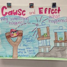Cause and effect Angry Birds style.great way to get kids to comprehend cause and effect. Reading Lessons, Reading Strategies, Reading Activities, Reading Skills, Teaching Reading, Teaching Ideas, Learning, Reading Tutoring, Student Teaching