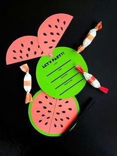 Printable Watermelon Invites