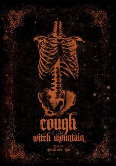 Cough / Witch Mountain (Lyon, France). Poster design: Ed Haunted Visual Art (Edouard Correia) (2013).